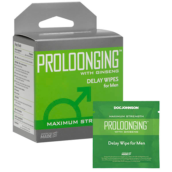 Proloonging - Delay Wipes for Men - 10 Pack