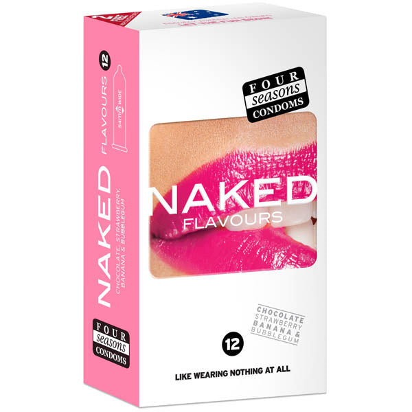 Naked Flavours - Ultra Thin Flavoured Condoms - 12 Pack