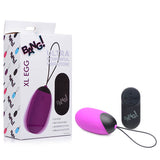 Bang! XL Silicone Vibrating Egg - Purple XL USB Rechargeable Egg with Wireless Remote