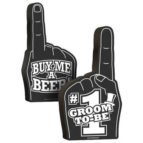 #1 Groom To Be Foam Hand - Black Foam Hand