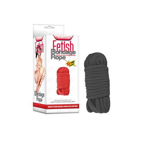 Fetish Bondage Rope - Black - 10 m Length