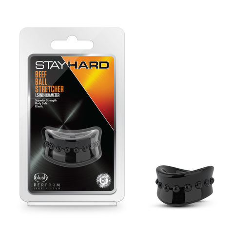Stay Hard Beef Ball Stretcher - Black 3.8 cm Ball Stretcher Ring