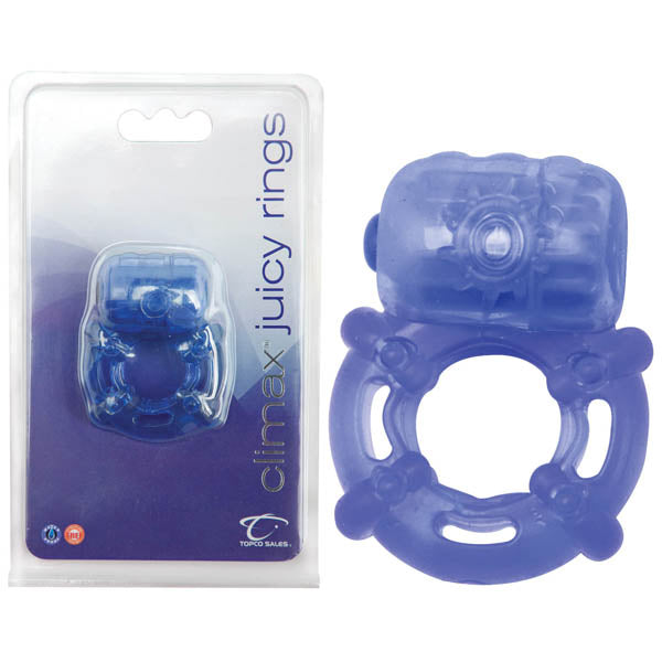 climax juicy rings - Blue Vibrating Cock Ring