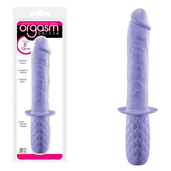 Orgasm Driver - Purple 12.7 cm (5'') Dong with Handle