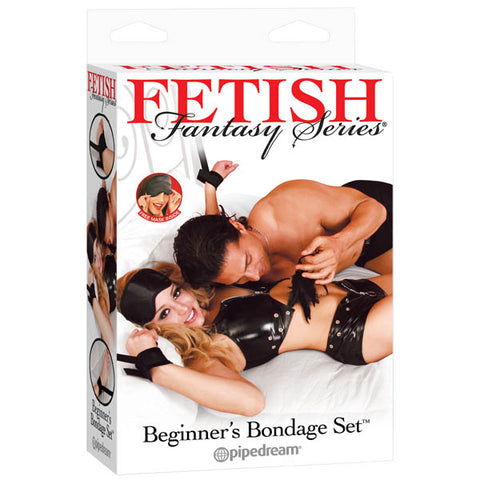 Fetish Fantasy Series Beginner's Bondage Set - Black Bondage Kit - 7 Piece Set