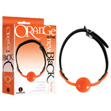 Orange Is The New Black - Siligag - Black/Orange Ball Gag