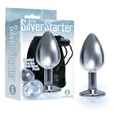 The Silver Starter - Silver 7.1 cm (2.8'') Butt Plug with Clear Round Jewel