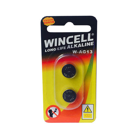 Image of Wincell LR44 Alkaline Cells - Alkaline Cells - LR44 (AG13) 2 Pack