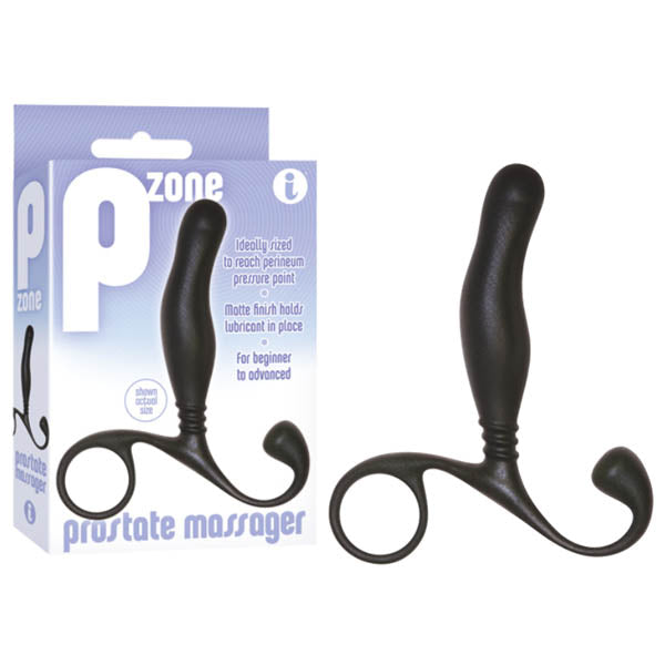 P-Zone Prostate Massager - Black 10 cm Prostate Massager