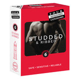 Studded Condoms - Studded Lubricated Condoms - 6 Pack