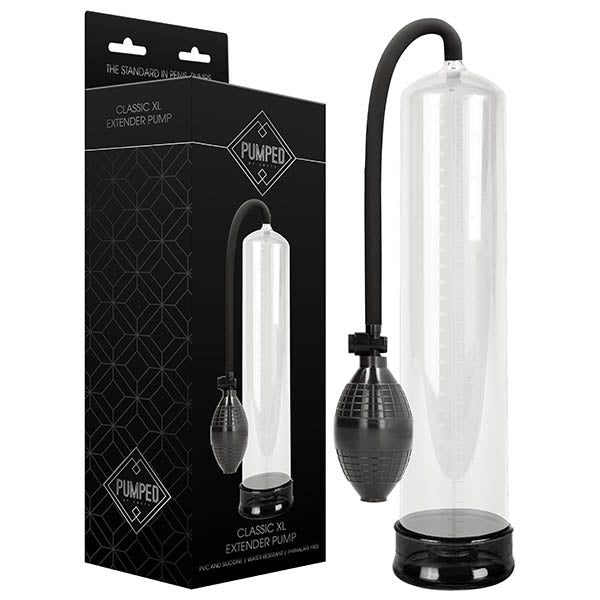 Pumped Classic XL Extender Pump - Clear Large Sized Penis Pump