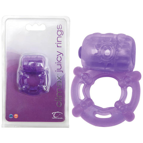 climax juicy rings - Purple Vibrating Cock Ring