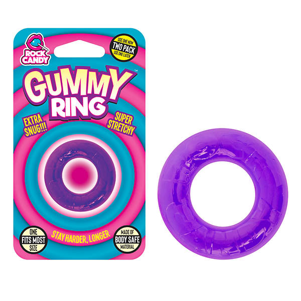 Rock Candy Gummy Ring - Purple Ring
