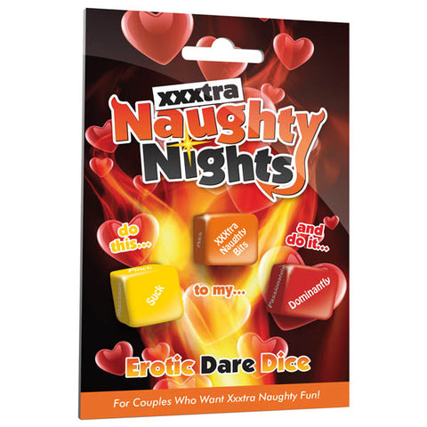 Naughty Nights Erotic Dare Dice - Lovers Dice Game