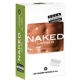 Naked Larger Fitting Condoms - Naked Larger Fitting Lubricated Condoms - 12 Pack