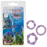 Island Rings - Purple Cock Rings - Set of 3