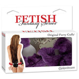 Fetish Fantasy Series Furry Cuffs - Purple Fluffy Hand Cuffs