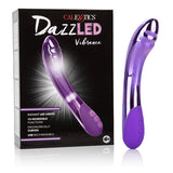 DazzLED Vibrance - Purple 14 cm (5.5'') USB Rechargeable Vibrator with Lights