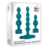 Adam & Eve Vibrating Bumpy Bead Set - Green Vibrating Anal Bead Set