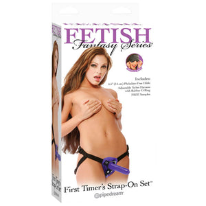 Fetish Fantasy Series First Timers Strap-On Set - Purple 14 cm (5.5'') Strap-On