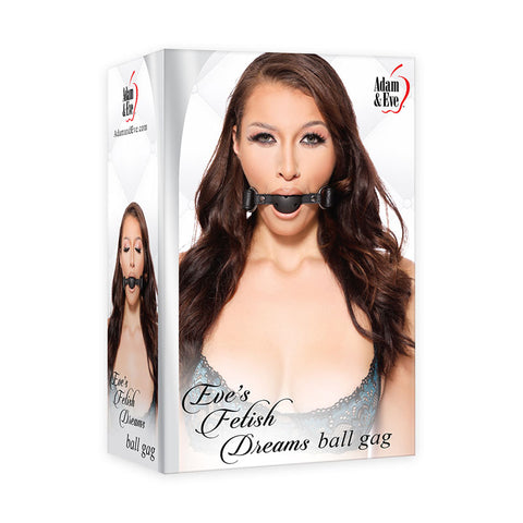 Adam & Eve Eve's Fetish Dreams Ball Gag - Black Mouth Restraint