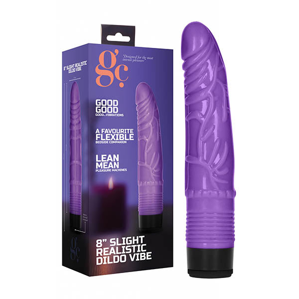 GC. 8'' Slight Realistic Dildo Vibe - Purple 20.3 cm Vibrator