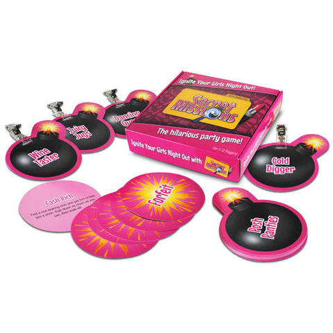 Secret Missions - Girls Night Out - Hens Party Game