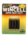 Wincell Aaa Super Heavy Duty Batteries - Super Heavy Duty Batteries - AAA 4 Pack