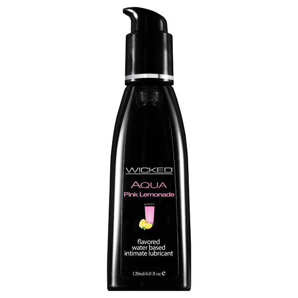 Wicked Aqua Pink Lemonade - Pink Lemonade Flavoured Water Based Lubricant - 120 ml (4 oz) Bottle