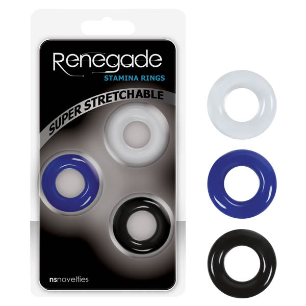Renegade Stamina Rings - Coloured Cock Rings - Set of 3