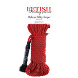 Fetish Fantasy Series Deluxe Silky Rope - Red Bondage Rope - 9.75 m Length