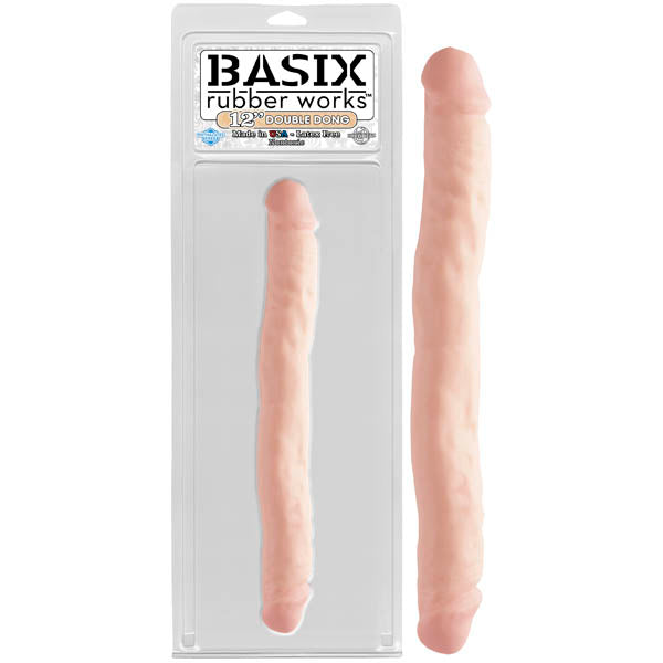 Basix Rubber Works 12'' Double Dong - Flesh 30.5 cm (12'') Double Dong