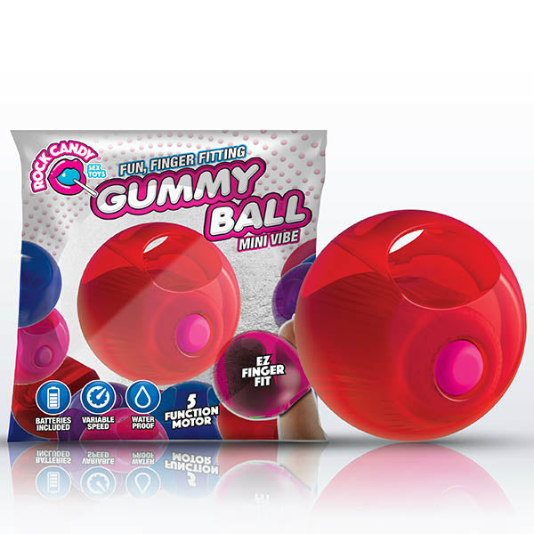 Rock Candy Gummy Ball - Cinnamon Red Disposable Finger Stimulator