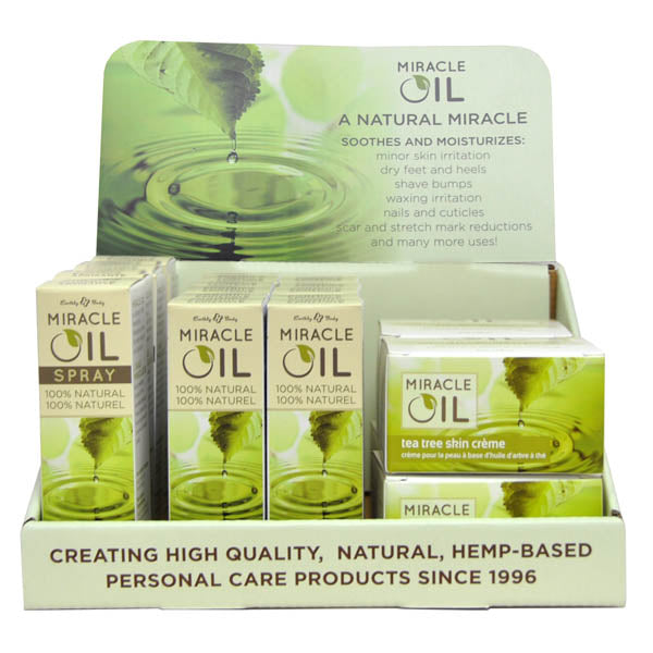 Miracle Oil Display - Variety Pack Counter Display with Testers