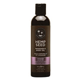 Hemp Seed Massage & Body Oil - Lavender Scented - 237 ml Bottle