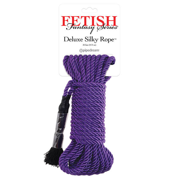 Fetish Fantasy Series Deluxe Silky Rope - Purple Bondage Rope - 9.75 m Length