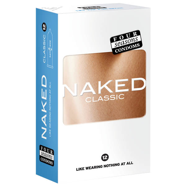 Naked Classic Condoms - Ultra Thin Lubricated Condoms - 12 Pack
