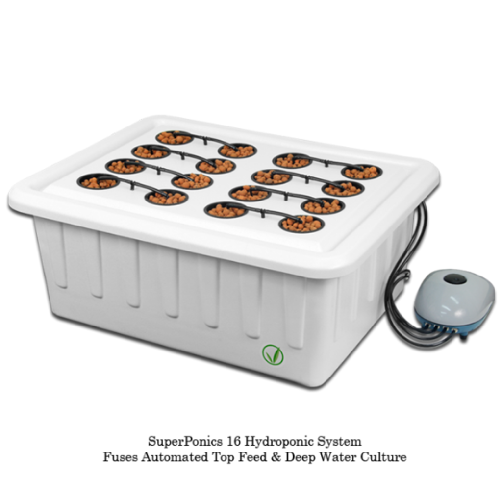SuperPonic 16-Hydroponic Grow System - Closet Grows