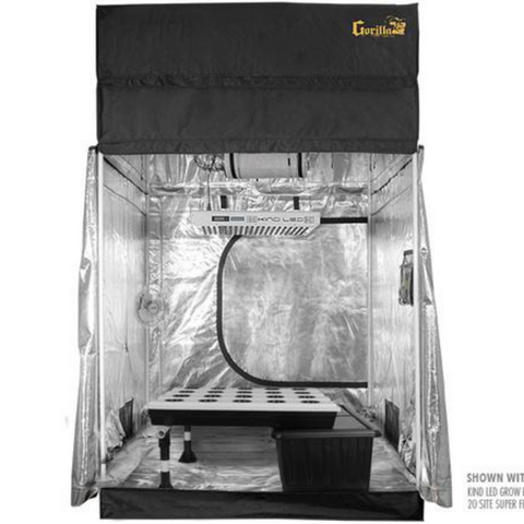 SuperRoom Smart 5′ x 5′ Grow Tent Kit - Closet Grows