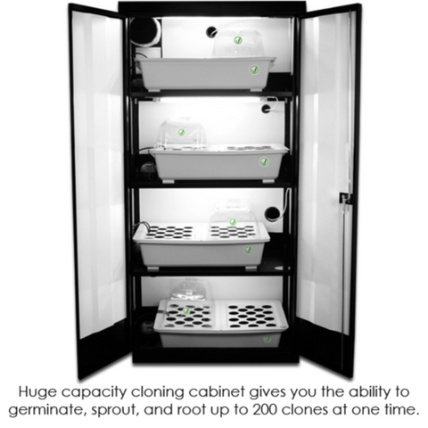 The Clone Machine Grow Cabinet - Closet Grows