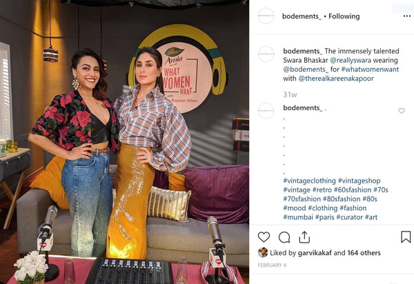 Swara Bhaskar wearing Bodements curated outfit for #Whatwomenwant with Kareena Kapoor - 4th February, 2019
