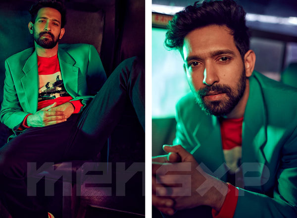 Vikrant Massey wearing Bodements for MensXP Cover