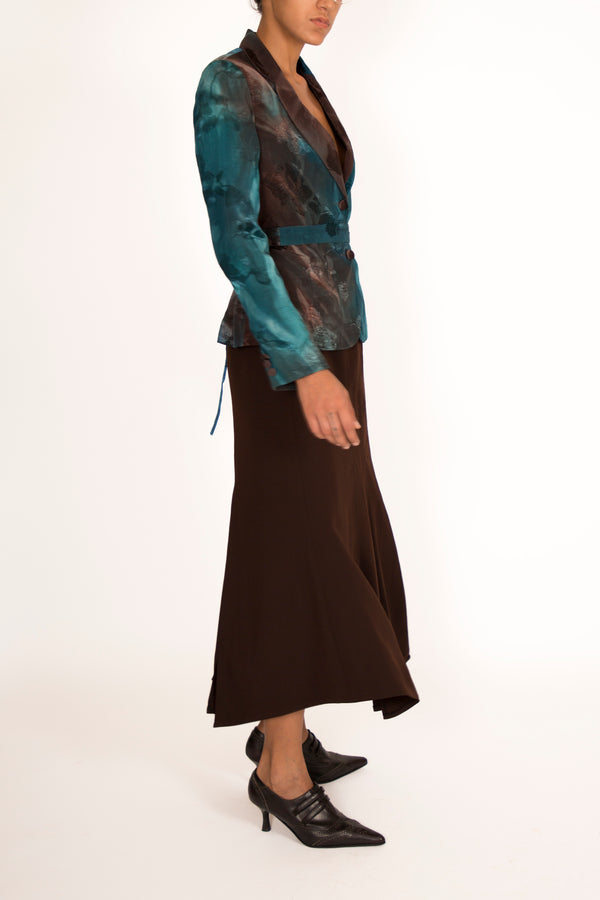 '80s Teal and Brown Anabiose Ensemble