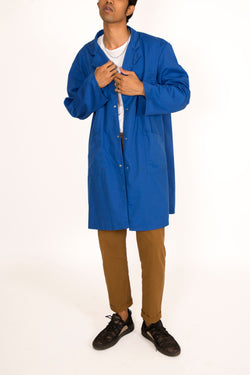 Buy Vintage Blue Color Worker Unisex Jacket on Bodements.com