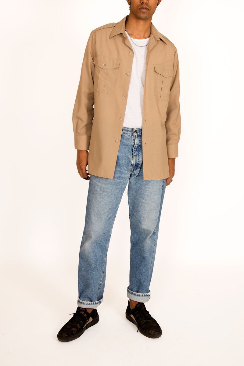 Buy Vintage '90s Beige Utility Shirt for man on Bodements