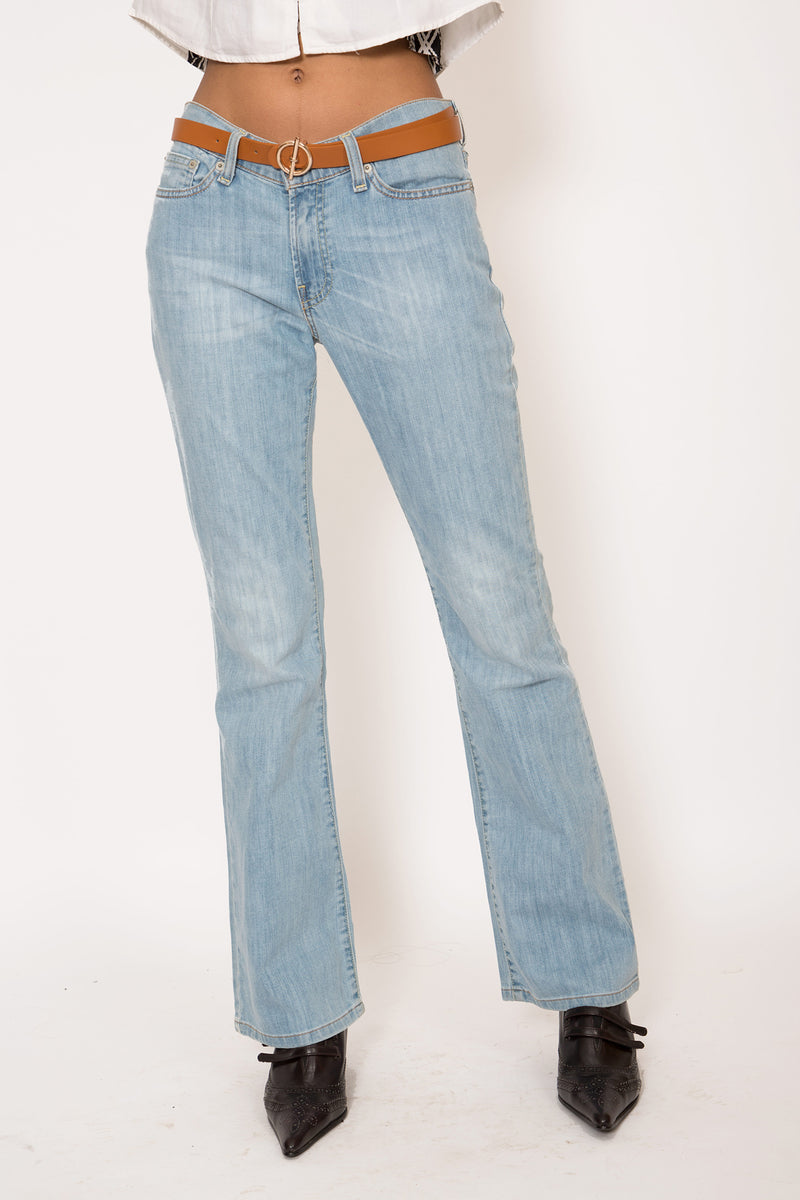 Buy Vintage Levi's Light Washed Bootleg Jeans for woman on Bodements.com