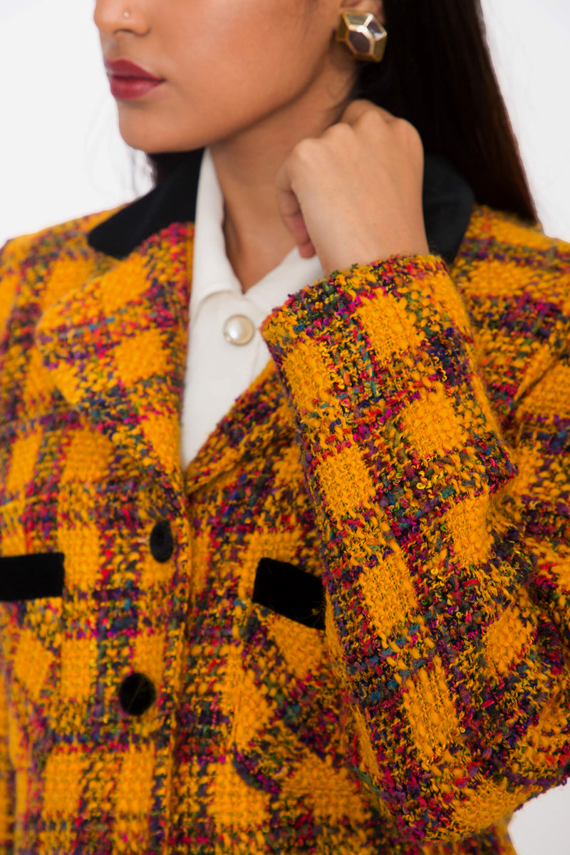 Buy Vintage Velvet Tweed Jacket for woman on Bodements.com