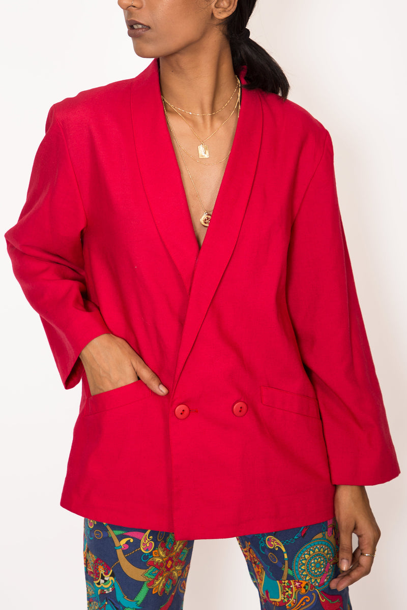 Buy Vintage Red Boyfriend Jacket for Woman on Bodements.com