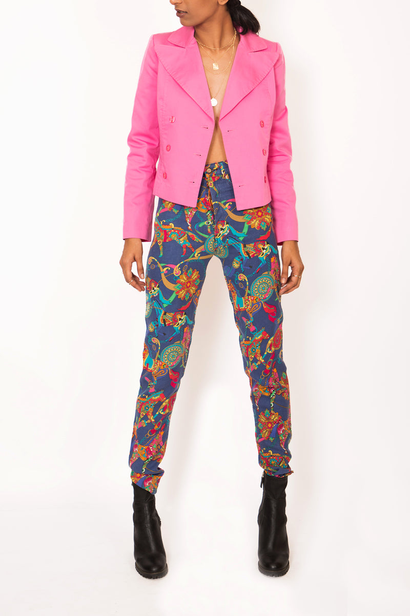 "Buy Vintage '90s ""Madonna"" Printed Silk Pants for woman on Bodements.com"