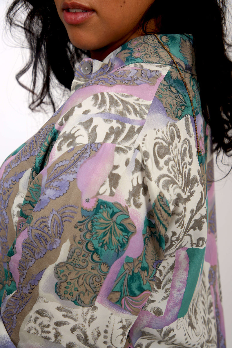 Buy Vintage Patchwork Ethnic Printed Shirt for woman on Bodements